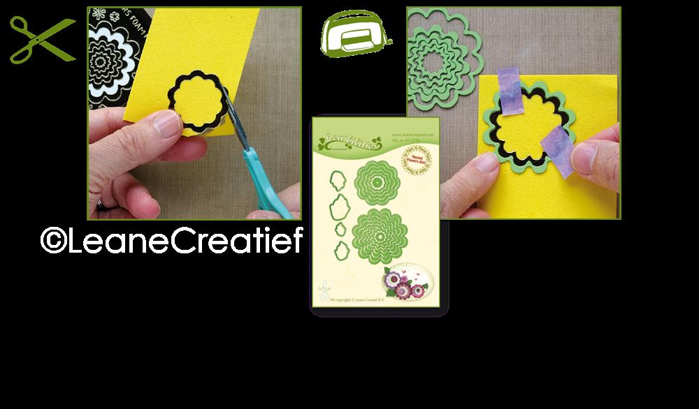Leane Creatief Uitgeverij Bv Stickers Des Fleurs Mirror Violet
