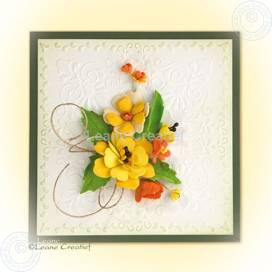 Afbeelding van Foam flowers with set 4 yellow