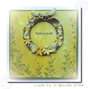 Afbeeldingen van Wreath with flowers