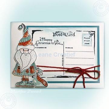 Afbeeldingen van Doodle Santa briefkaart