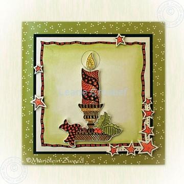 Afbeeldingen van Doodle Christmas candle