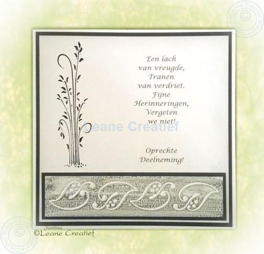 Afbeelding van Clear stamp grass condoleance kaart