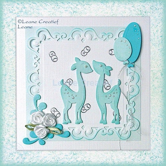 Afbeelding van Hertjes als babykaart