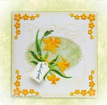 Bild von Frühlingskarte mit Narzisse