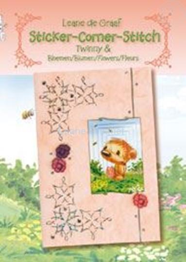 Bild von Sticker-Corner-Stitch® mit Twinny® & Blumen