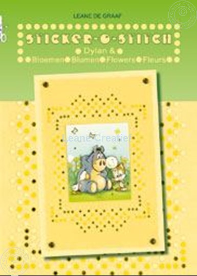 Picture of Sticker-O-Stitch® with Dylan® & flowers