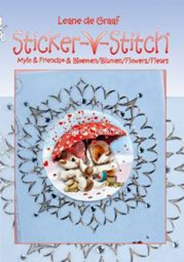 Afbeelding van Sticker-V-Stitch® met Mylo & Friends® en bloemen