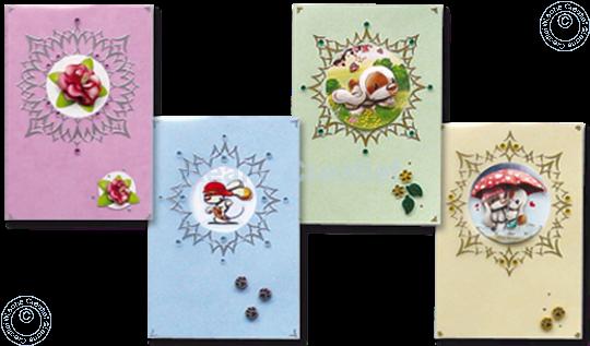 Bild von Sticker-V-Stitch® mit Mylo & Friends® und Blumen