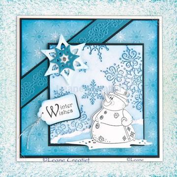 Bild von Snowman die & stamp