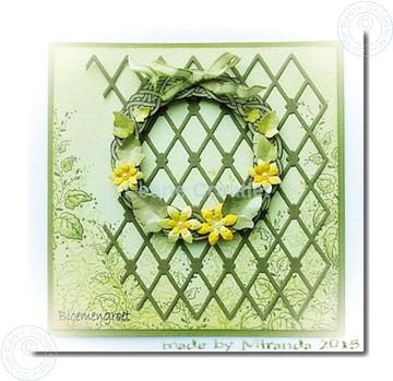 Afbeeldingen van Wreath with flowers large
