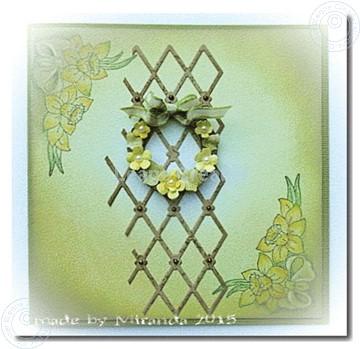 Afbeeldingen van Small wreath with flowers