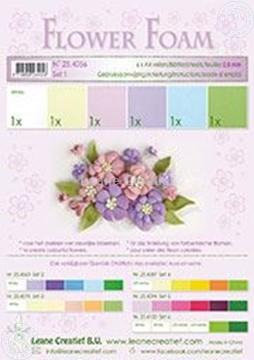 Bild von Flower foam set 1 Pastel Farben