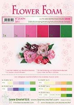 Afbeeldingen van Flower foam set 5 rood