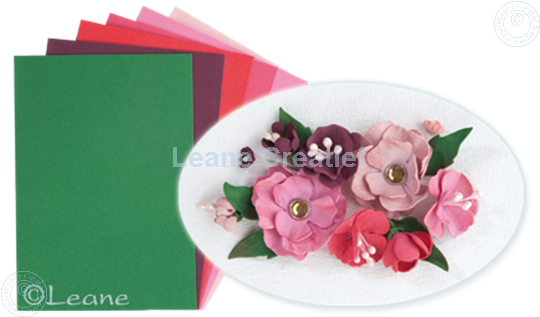 Picture of Flower foam set 5 red