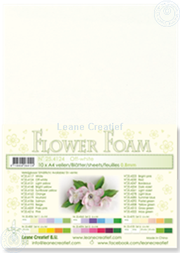 Picture of Flower foam A4 sheet off white