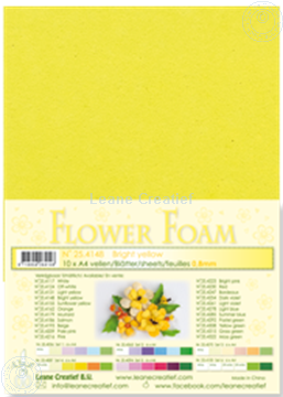 Picture of Flower foam A4 sheet bright yellow