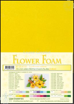 Afbeeldingen van Flower foam A4 sheet sunflower yellow