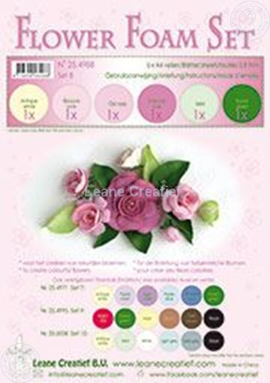 Picture of Flower foam set 8 rose colours