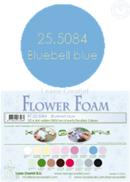 Afbeeldingen van Flower foam A4 sheet bluebell blue