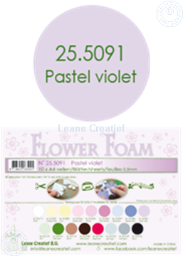 Picture of Flower foam A4 sheet pastel violet