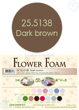 Afbeeldingen van Flower foam A4 sheet dark brown