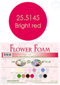Picture of Flower foam A4 sheet bright red