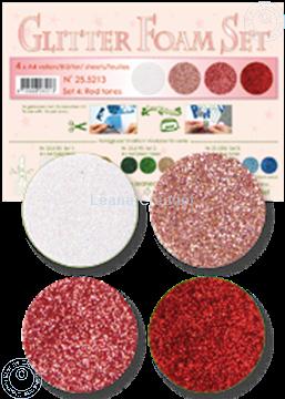 Image de Glitter Foam set 4 teintes rouges