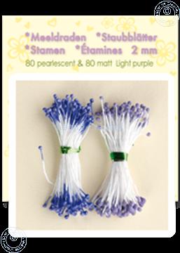 Afbeeldingen van Meeldraden ± 80 matt & 80 pearl light purple