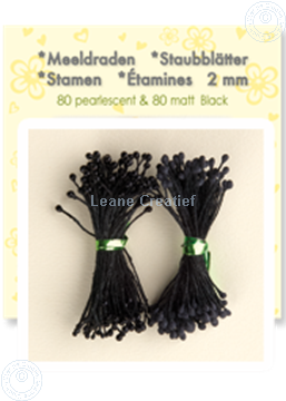 Image de Étamines ± 80 matt & 80 pearl black