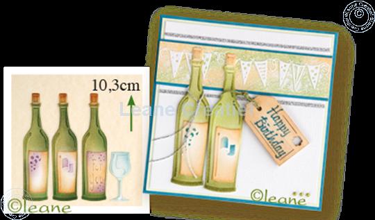 Afbeelding van Wine bottle & glass