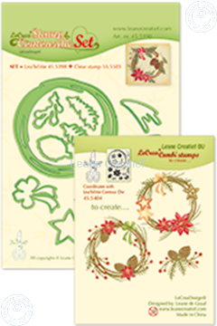 Picture of Set Lea'bilitie&Clearstamp Christmas wreath