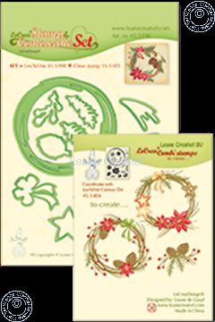 Image de Set Lea'bilitie&Clearstamp Christmas wreath