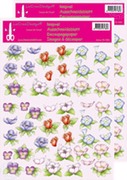 Picture of LeCreaDesign® Flower decoupage papers