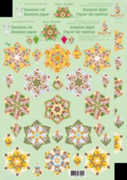 Afbeeldingen van Rozetten knip- en snijdvellen Mylo & Friends® groen/geel