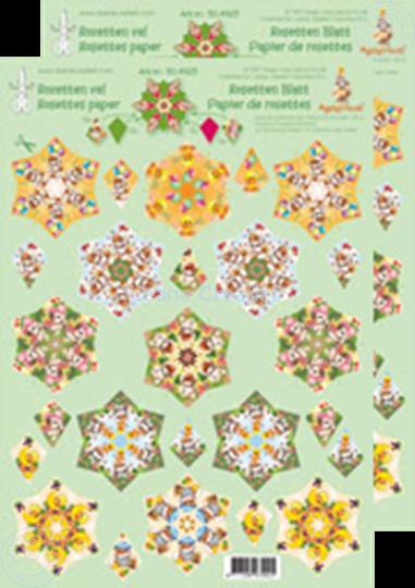 Afbeelding van Rozetten knip- en snijdvellen Mylo & Friends® groen/geel