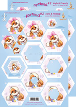 Picture of Mylo & Friends® Pyramid decoupage sheets #MP2
