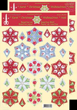 Image de Feuilles de rosettes à découper de Noël divers