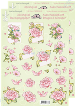 Picture of LeCreaDesign® decoupage papers roses pink flowers