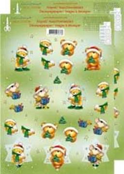 Bild von Weihnachtsbären 3D klein