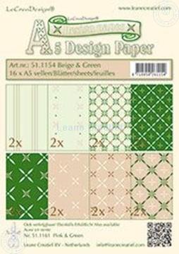Bild von Design Bogen beige & grün A5
