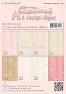 Image de Design paper Lace pink/brown
