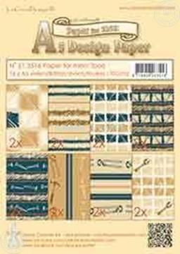 Image de Design Paper Men tools blue/brown