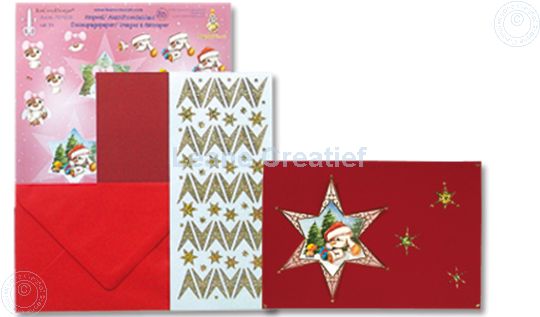 Picture of Mylo & Friends® 3D sticker Christmas card kits star #4