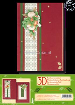 Bild von Weihnachtskarten Bastelpackung 3D rot