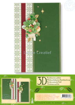 Picture of Christmas card kit 3D green