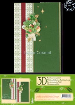 Bild von Weihnachtskarten Bastelpackung 3D grün