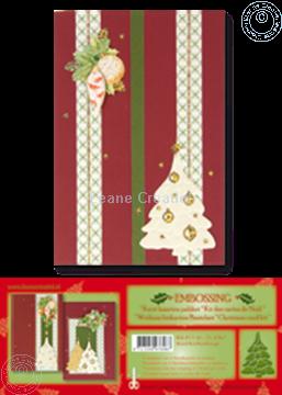 Afbeeldingen van Kerst kaarten pakket embossing rood