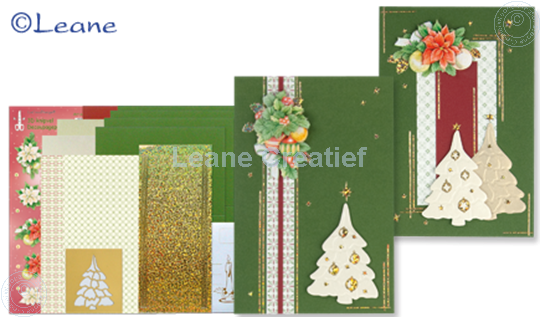 Picture of Christmas card kit embossing green