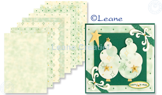 Bild von Design Bogen green tones A5