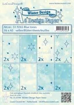 Image de Feuilles décorées blue tones A5